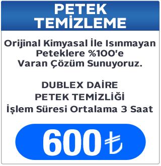 Dublex Daire Petek Temizleme Fiyatı, Petek Temizleme Fiyatları Keçiören Ankara